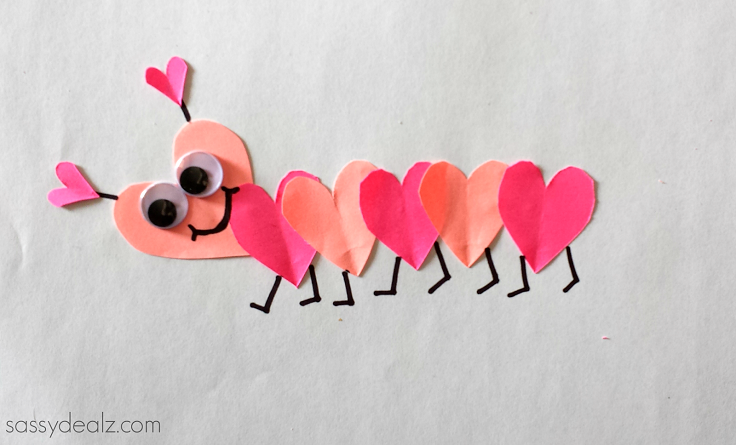 Valentine's Day Heart Caterpillar Craft