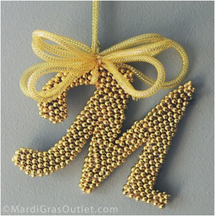 Top Decorative DIY Crafts With Leftover Mardi Gras Beads Top - How to make home decoration items