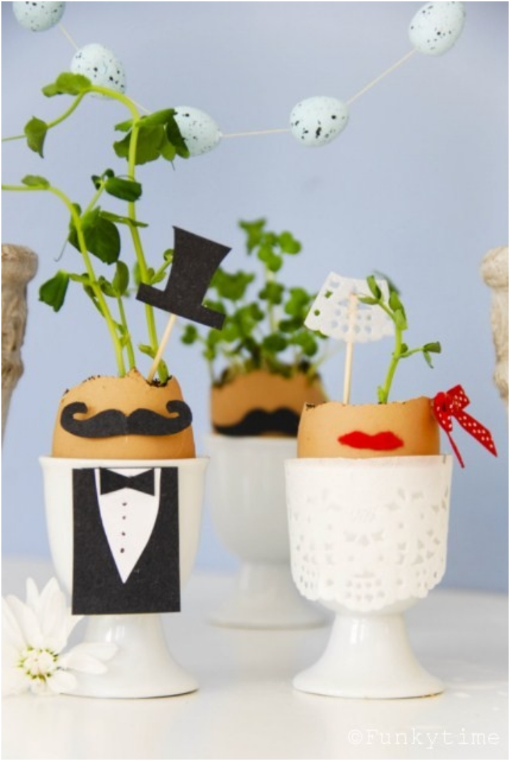 Bride-And-Groom-Eggshell-Planter