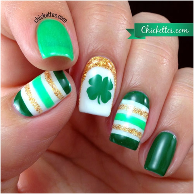 Shamrock nail design choice image nail art and nail design ideas top 10 lucky shamrock nail art tutorial for st patricks day top 10 lucky shamrock nail prinsesfo Gallery