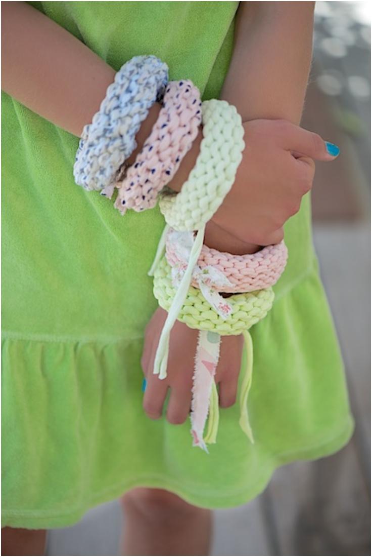 Easy-Knit-Summer-Bracelets