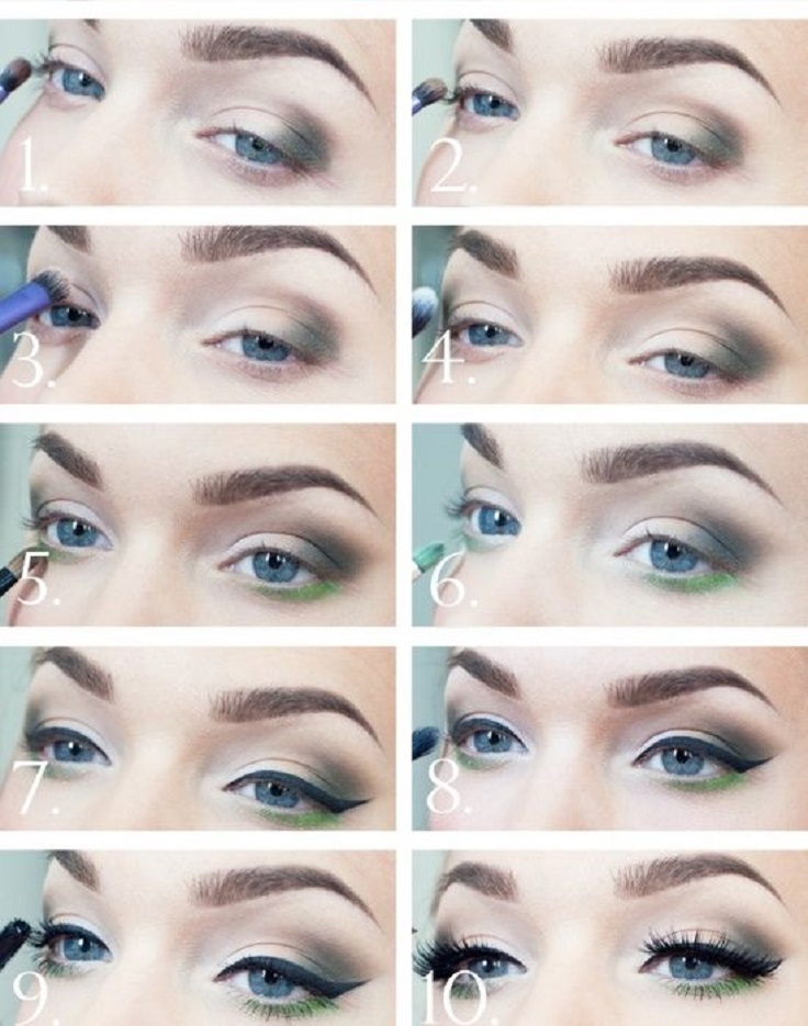 Eye-Makeup-Tutorial-with-a-Sparkle-of-Green
