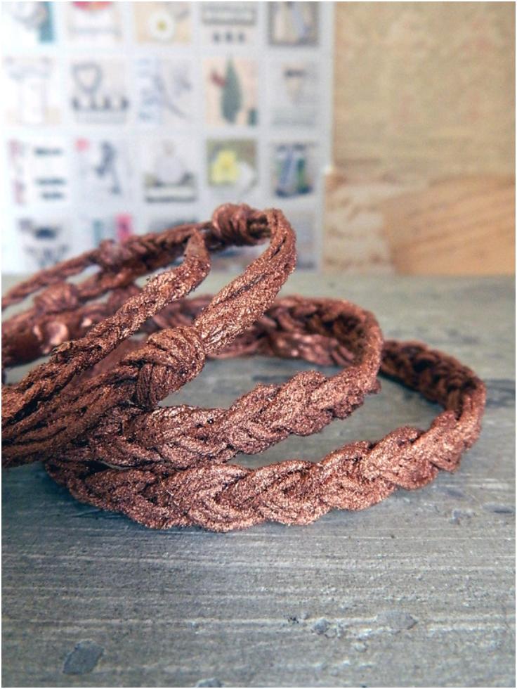 Faux-Metal-Rope-Bangle