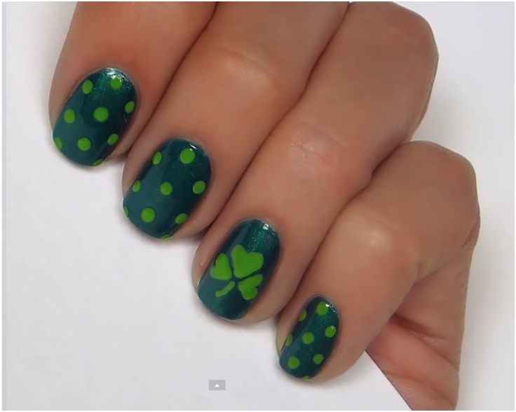 Top 10 Lucky Shamrock Nail Art Tutorial For St. Patrick's Day - Top 10 Lucky Shamrock Nail Art Tutorial For St. Patrick's Day - Top