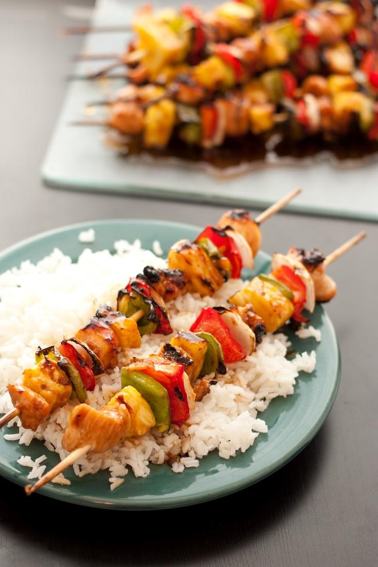 Grilled-Chicken-Teriyaki-Kebabs