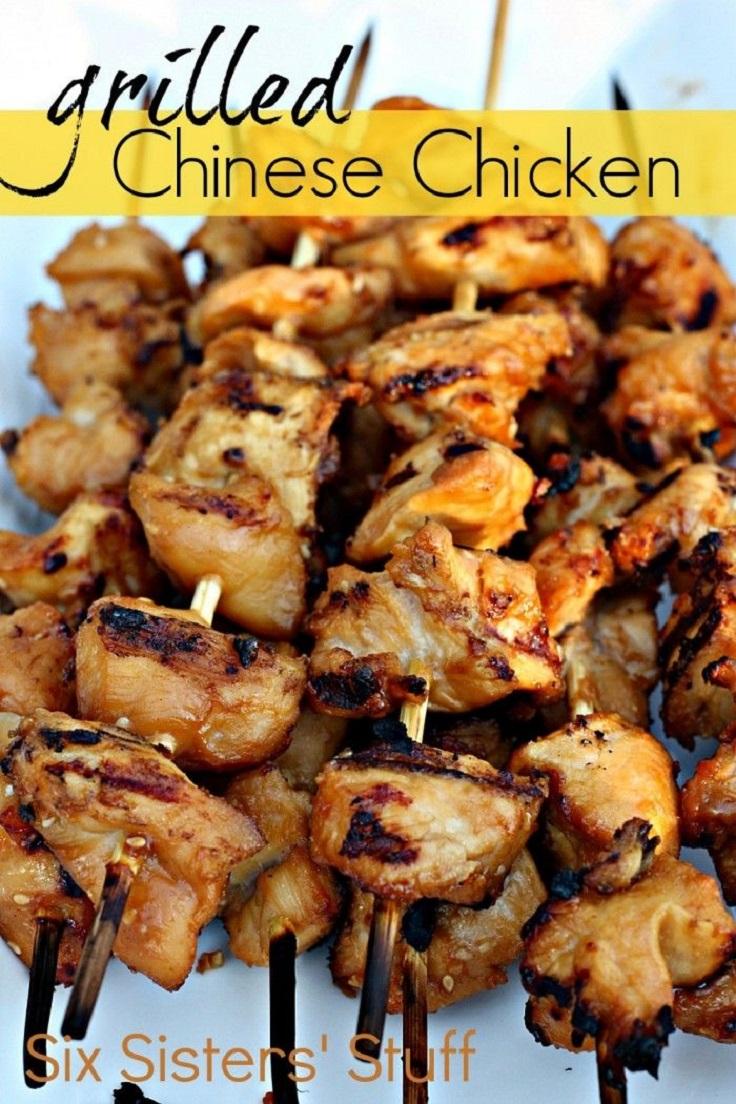 Grilled Chinese Chicken Kabobs
