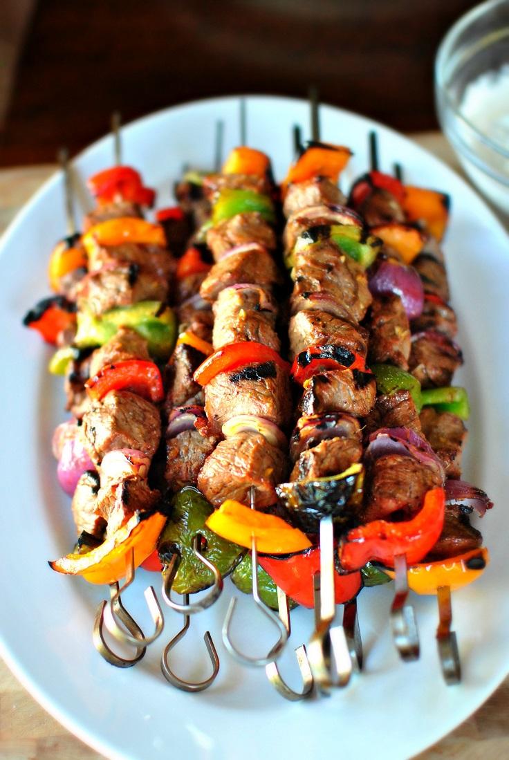 Grilled-Marinated-Steak-Kebabs
