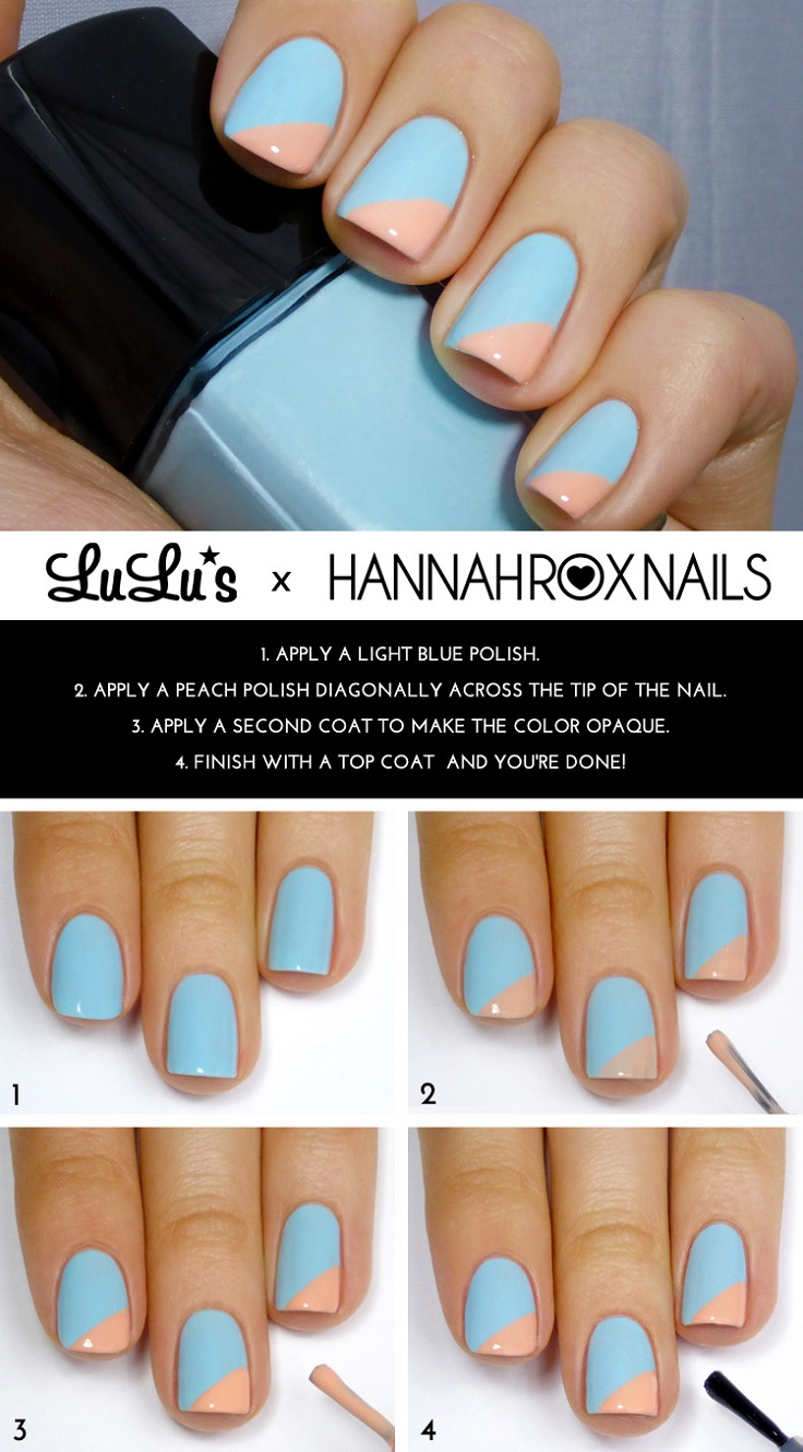 Light-Blue-and-Peach-Angled-Tip-Mani-Tutorial