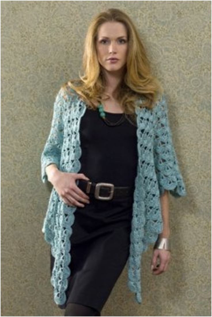 Free Crochet Pattern Wrap Sweater : Top 10 Patterns For Cozy Knitted Or Crocheted Summer ...