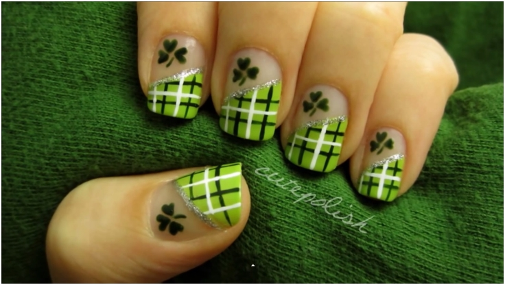 Top 10 Lucky Shamrock Nail Art Tutorial For St. Patrick's Day