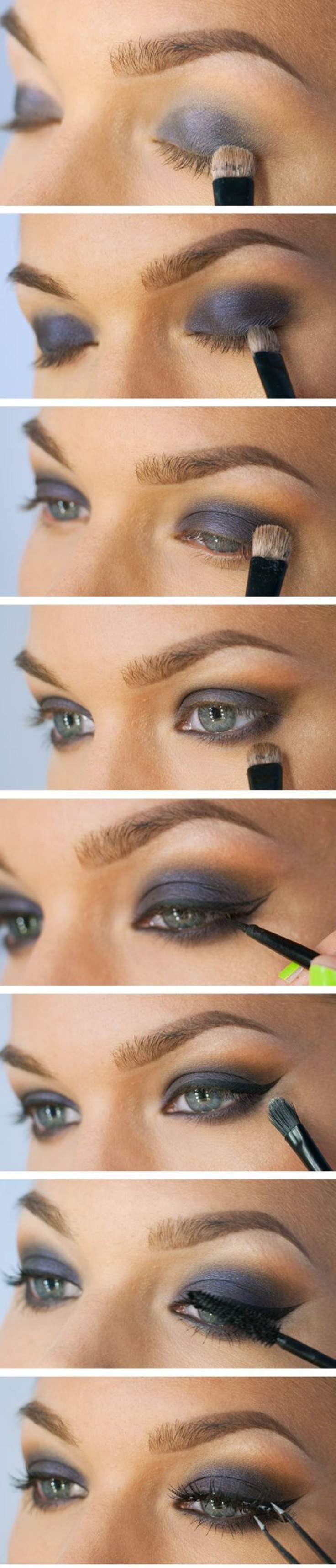 Makeup-Tutorial-for-Grey-Eye-Shadow