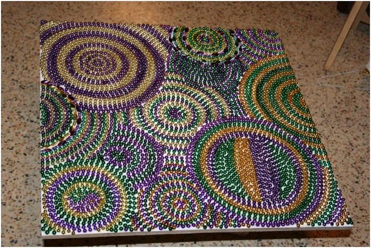 Diy Crafts With Mardi Gras Beads