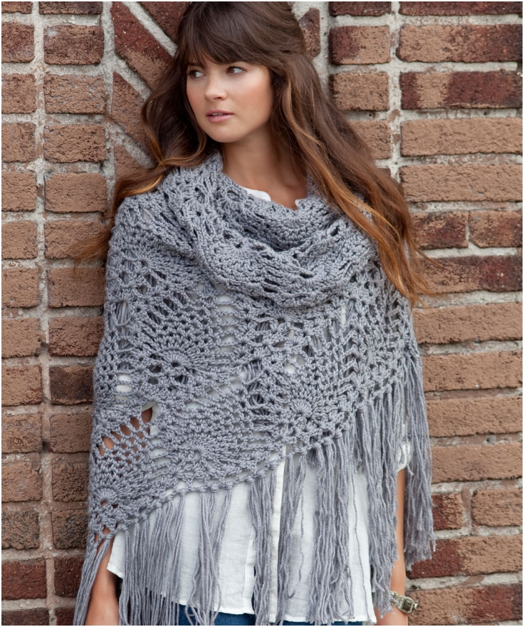 Top 10 Patterns For Cozy Knitted Or Crocheted Summer Shawls