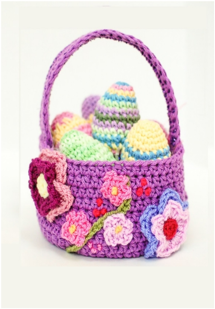 Spring-Easter-Basket-Crochet-Pattern