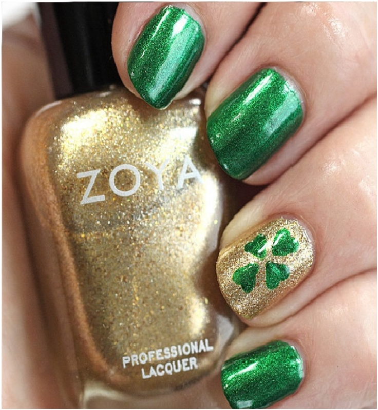 Top 10 Lucky Shamrock Nail Art Tutorial For St. Patrick\'s Day - Top ...