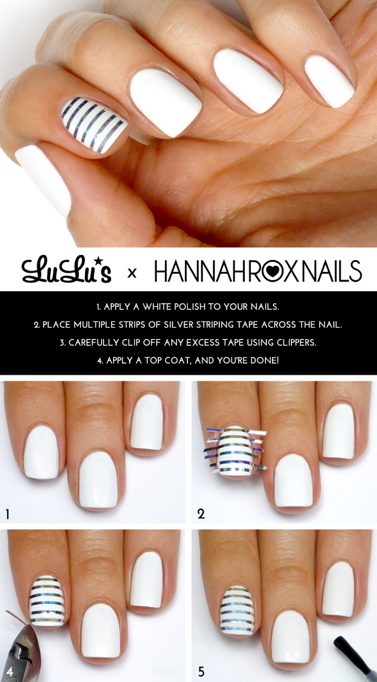 White-and-Silver-Striped-Accent-Nail-Mani-Tutorial