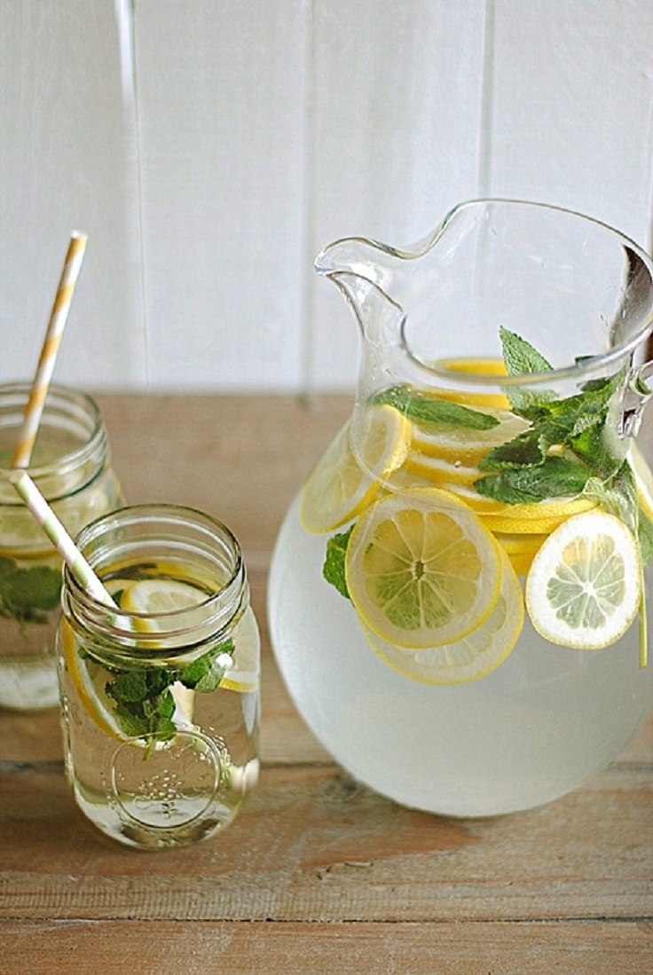It keeps your skin moisturized and glow and your hair strong and fresh. But, if you are bored of the simple taste, we recommend you to add some fresh fruits or vegetables to satisfy your taste needs. Here are top 10 homemade detox water for your morning routine. #Detox_Water #Detox