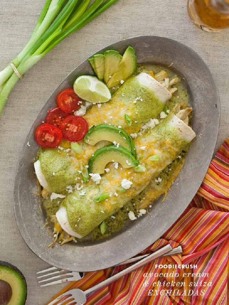 Avocado-Cream-and-Chicken-Suiza-Enchiladas