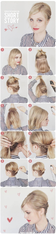 Прически для волос до плеч пошагово