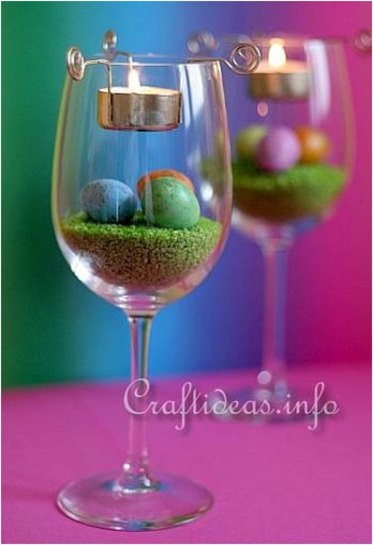 Easter-Tea-Light-Centerpiece-with-Easter-Eggs-and-Straw-Colored-Rocks