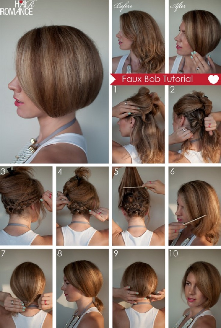 Top 10 Greatest Tutorials for Short Hair - Top Inspired