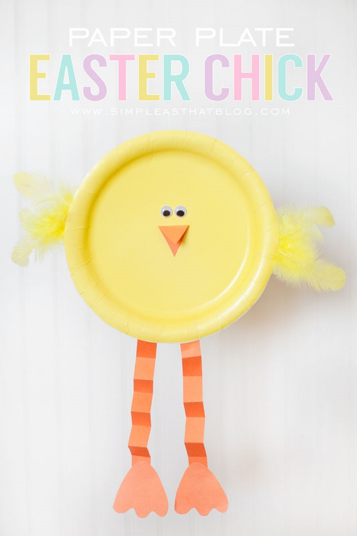 Paper-Plate-Easter-Chick