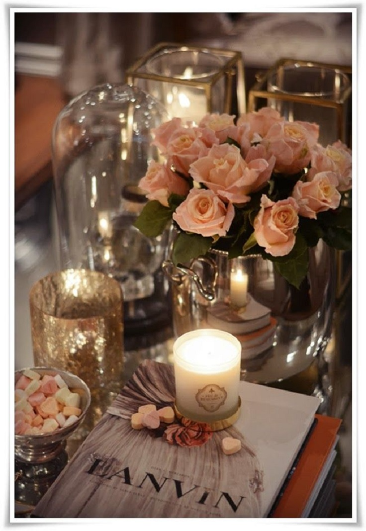 Ideas for coffee table decor photograph pretty feminine co Best table decoration ideas