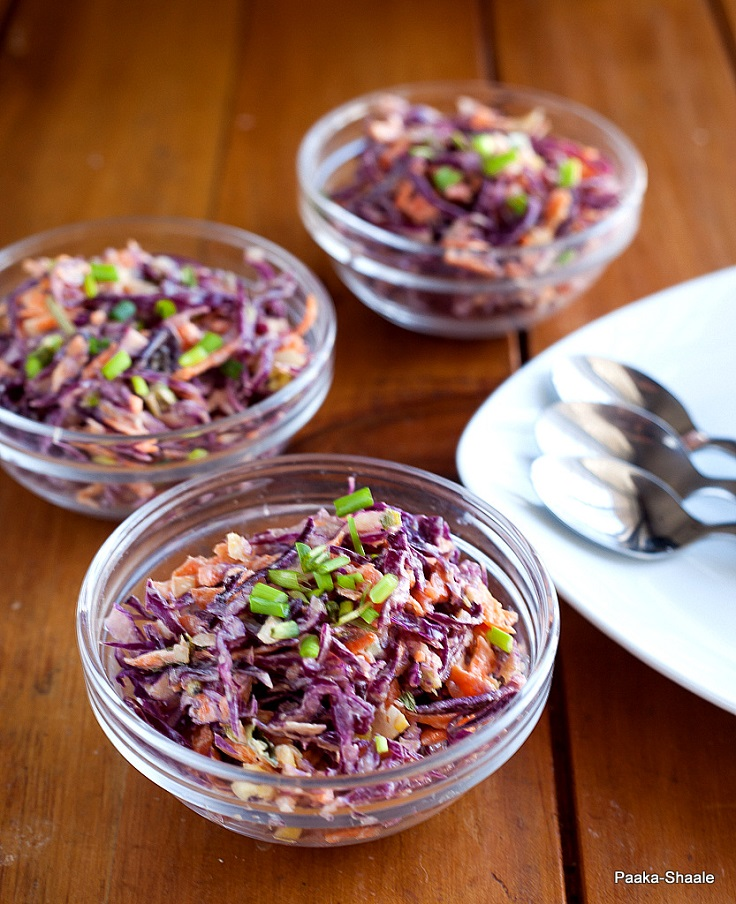 Purple Cabbage Slaw with Hung Curd Dressing