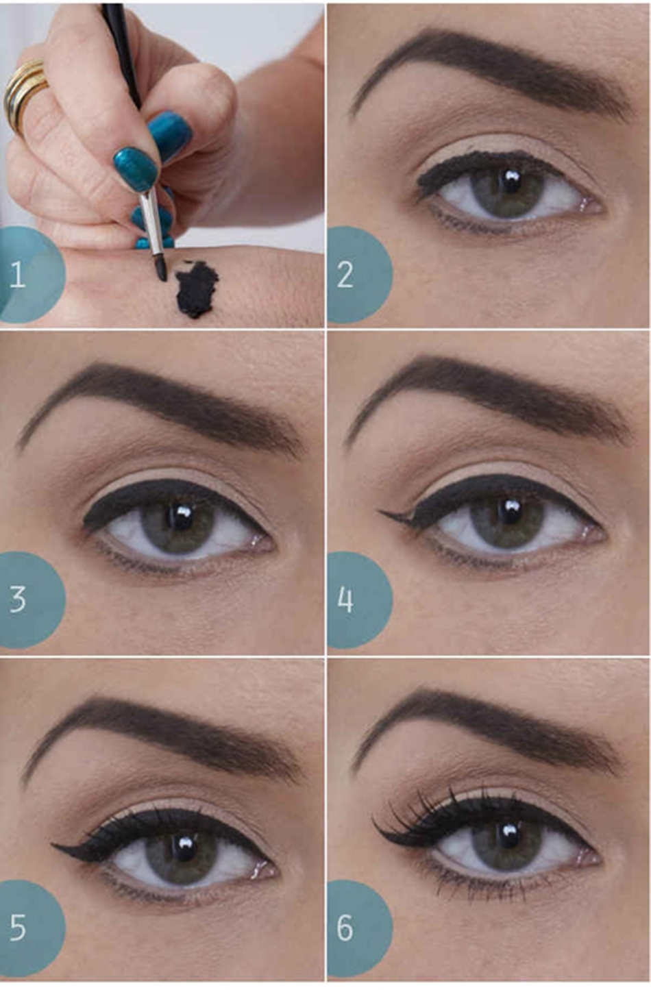 "Simple-Natural-""Cat-Eye""-Makeup1"