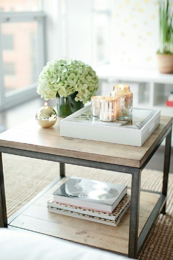 simple coffee table decor - Living Room Table Decor