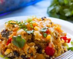 Skinny Tex Mex Bean Quinoa Casserole