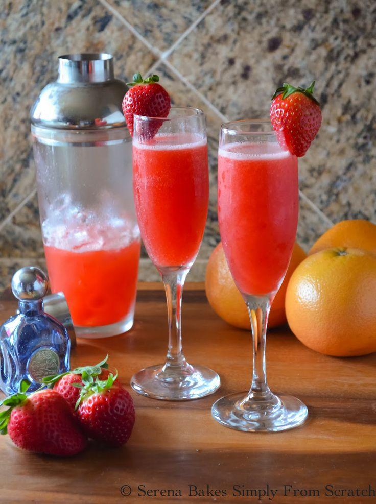 Strawberry-Grapefruit-Mimosas