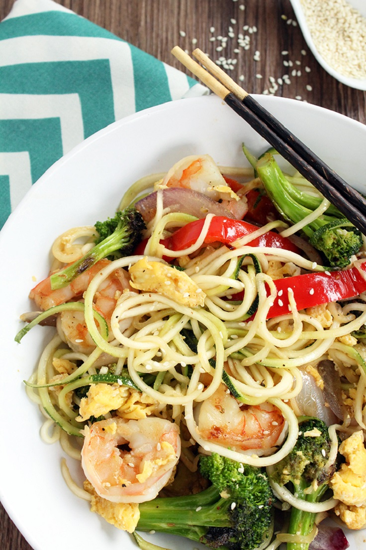 Teriyaki-Zucchini-Noodles-with-Shrimp-Peppers-Onions-and-Broccoli