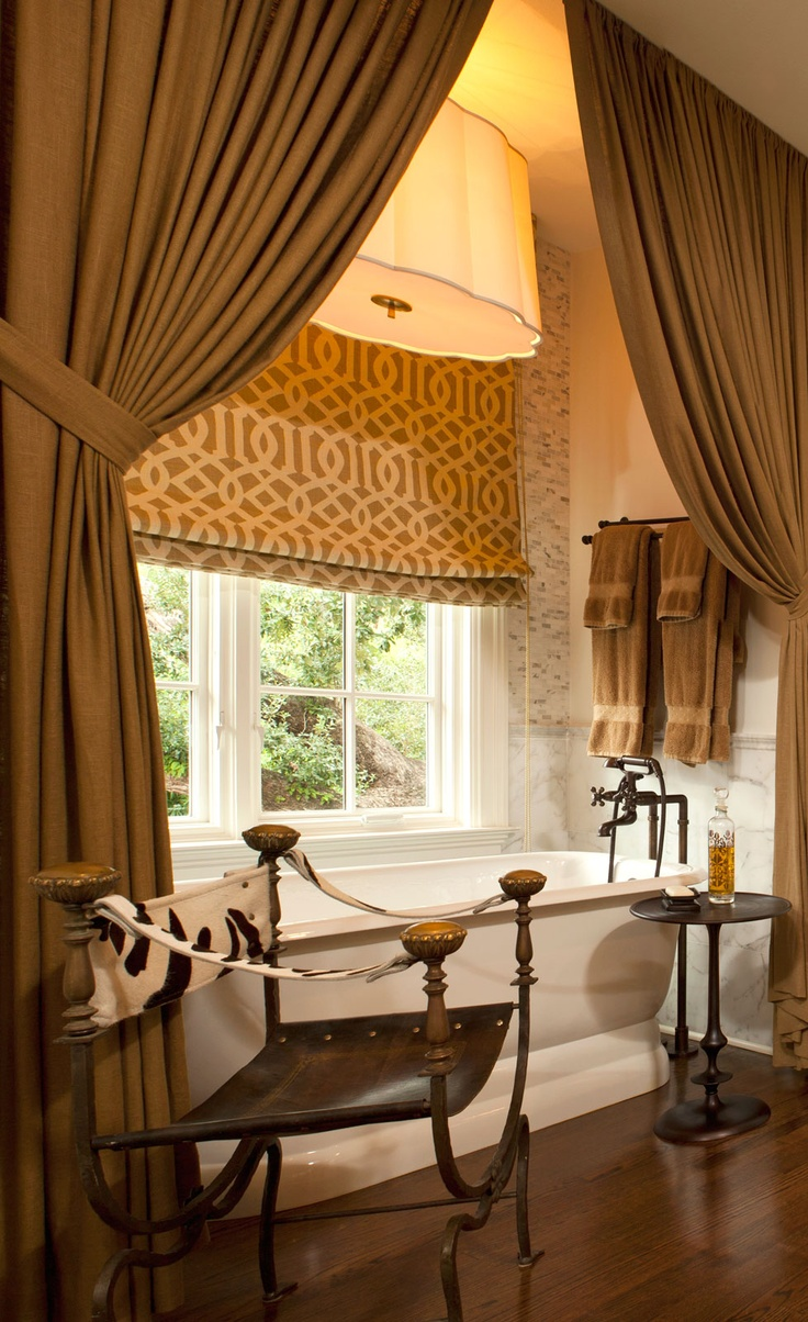 Use-Real-Curtains-as-Shower-Curtains