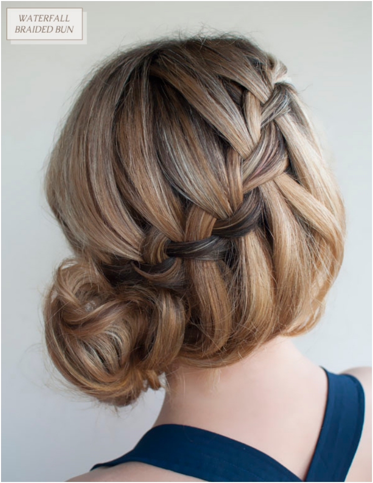 Waterfall-Braided-Bun