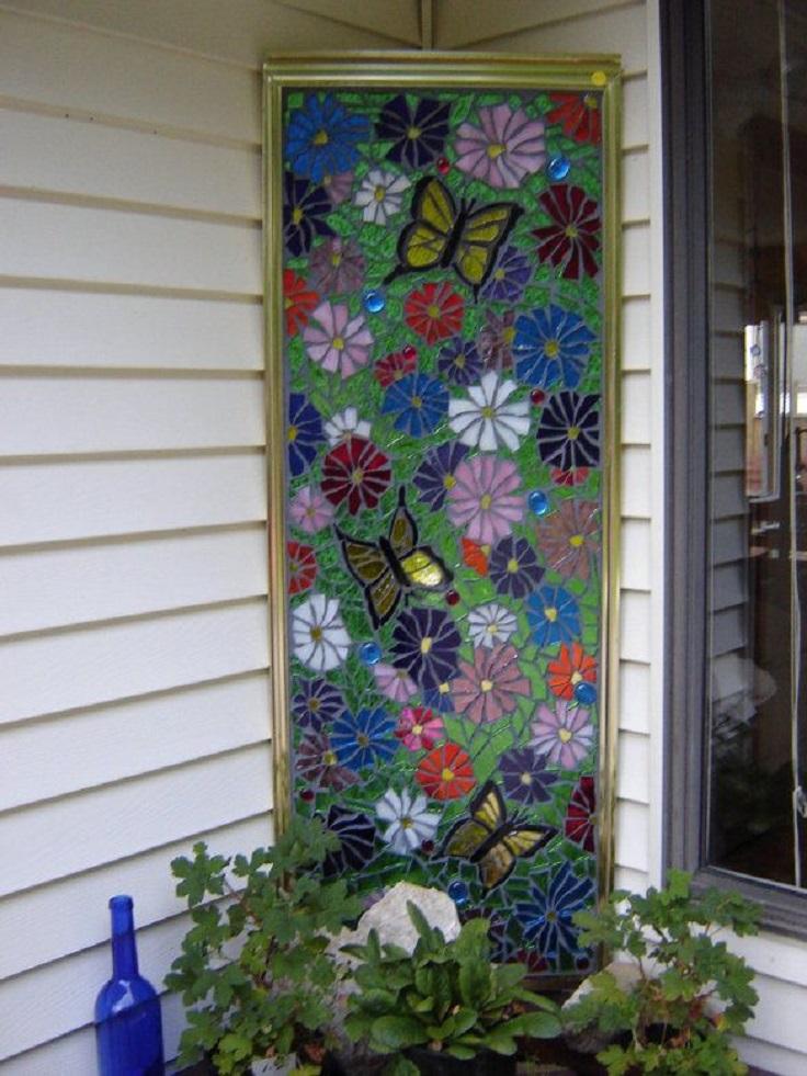 old-shower-door-as-a-garden-decor