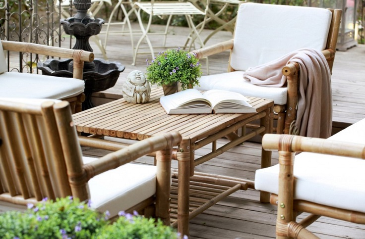 Eco-friendly-Bamboo-Chairs-and-Table