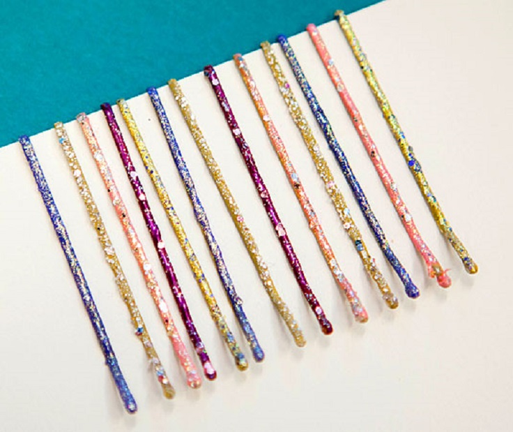 Paint-your-regular-bobby-pins-a-vibrant-color-or-with-glitter-polish-to-add-some-color-to-your-hairstyle