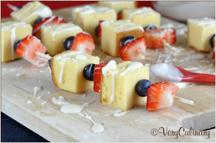 Red, White, and Blue Dessert Kabobs