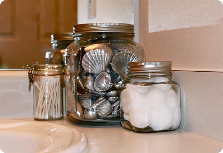 Shiny-Silver-Painted-Seashells