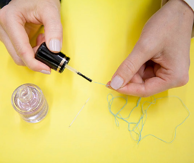 Thread-a-needle-faster-by-running-the-thread-over-a-base-or-top-coat