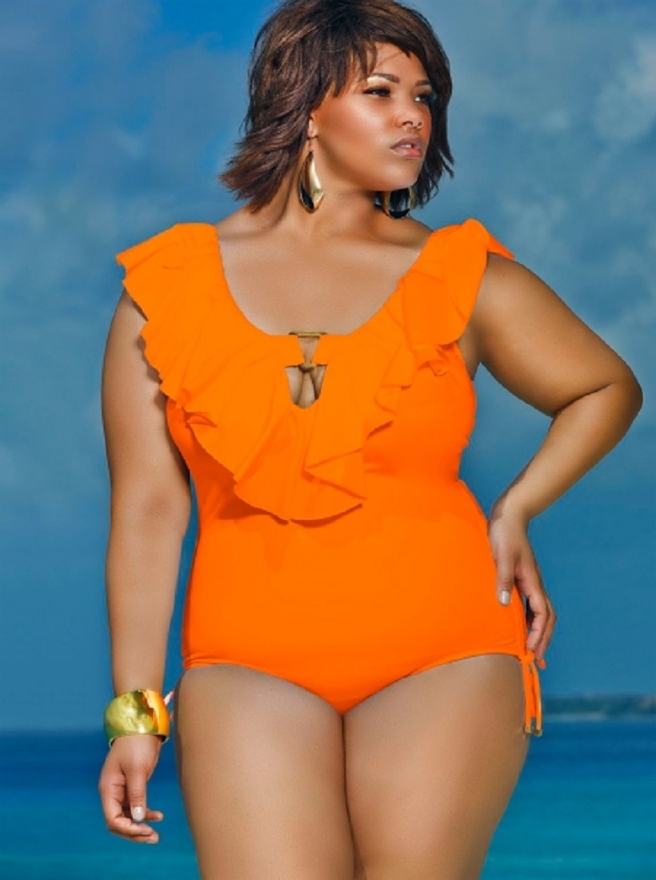 Eloquii is made for sizes , so you can bet they have some amazing plus-size swimsuit options every summer! A front-cutout makes this the perfect compromise between a one-piece and a bikini. One reviewers says it's