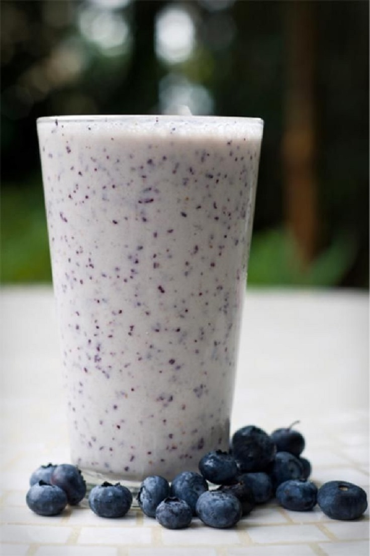 Blueberry-Oatmeal-Smoothie