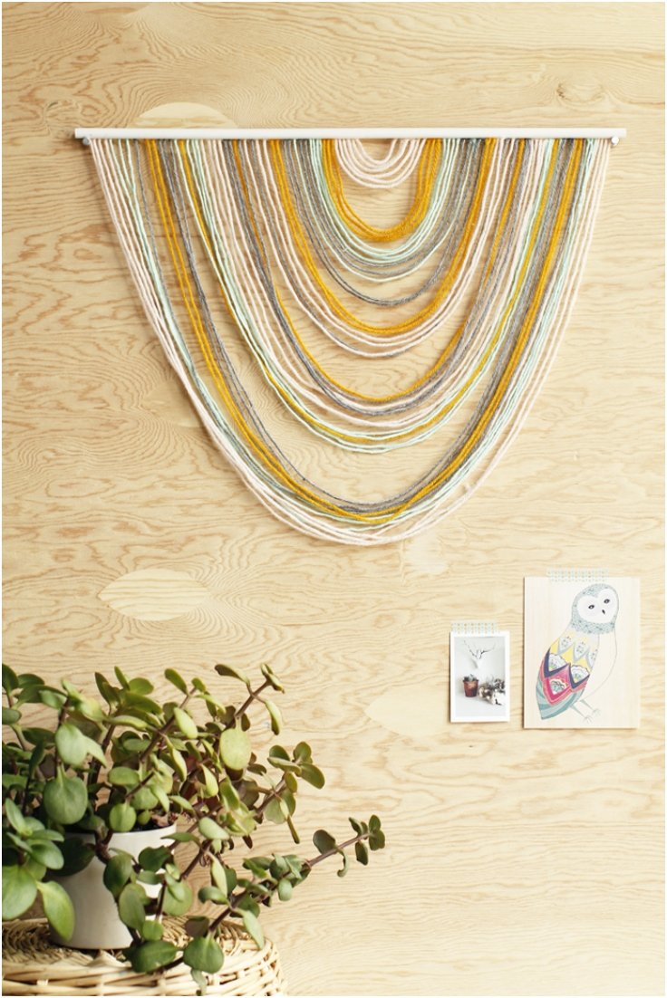 Pictures Of Diy Wall Decor : Top simple yet amazing diy fiber wall art inspired
