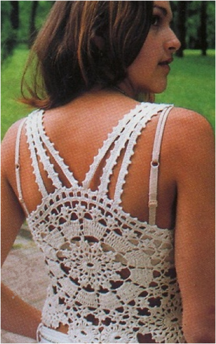 Crochet Top Pattern : ... Halters And Sleeveless Top Crochet Patterns Summer Top Summer Vest Top
