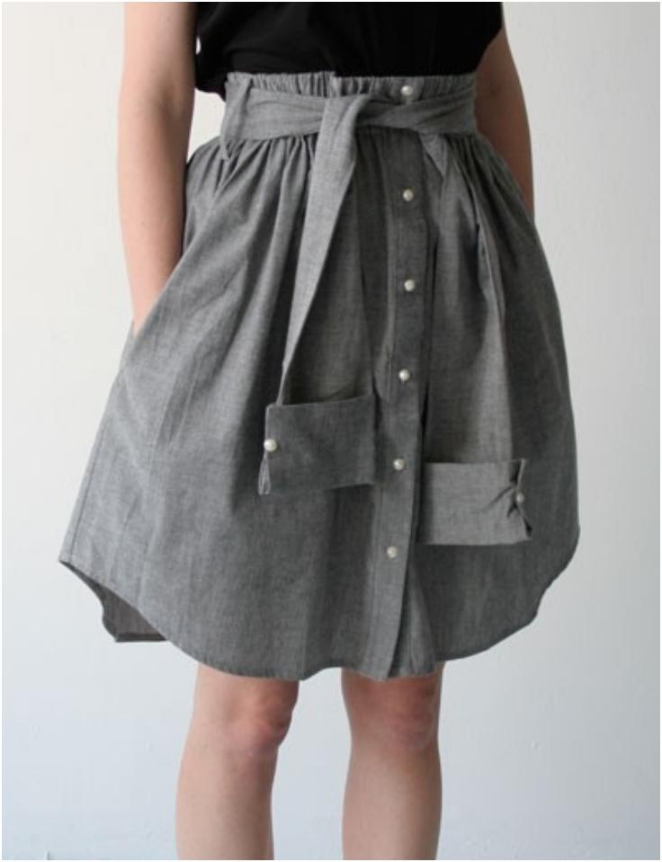 Dress-Shirt-Skirt