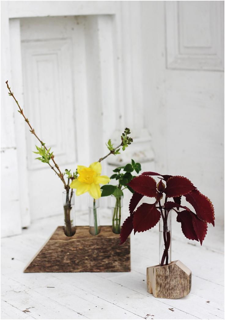 Geometric-Wooden-Test-Tube-Vase