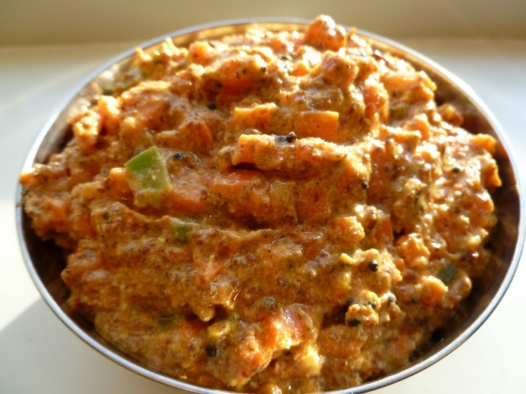 Indian Carrot Pachadi