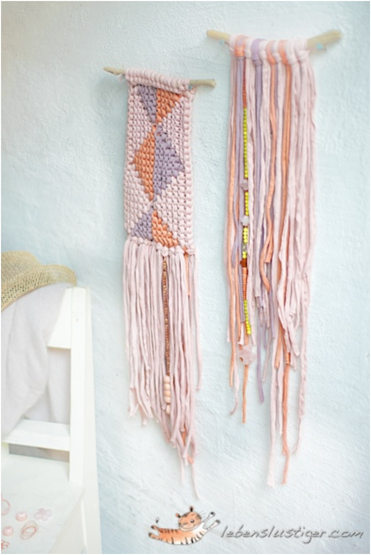 Knitted-Tapestry-With-Fabric-Yarn