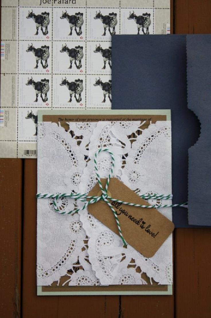 diy wedding invitations wedding invitation set Modern Vintage DIY Wedding Invitation Set
